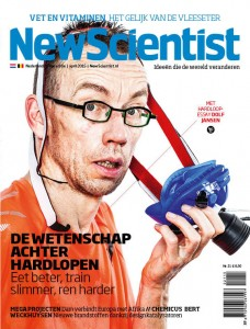 Dolf Jansen op de cover van New Scientist
