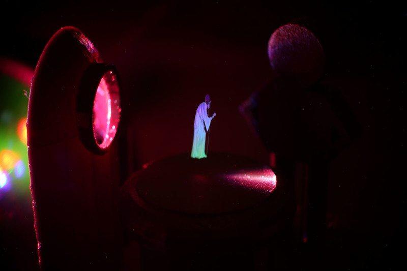 Sciencefictionachtig 3D-hologram eindelijk werkelijkheid