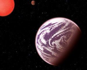 Een artist impression van de nieuwe planeet. Bron: C. Pulliam & D. Aguilar (CfA)