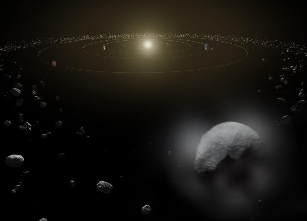 Artistieke impressie van Ceres. Bron: ESA/ATG