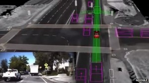 Sensoren houden de weg nauwlettend in de gaten. Bron: Google