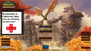 De World of Warcraft-speler krijgt een uitnodiging te helpen. Bron: Screenshot van WoW, gewijzigd door IRL