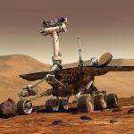 Artist impression van een rover op Mars. Bron: NASA/JPL/Cornell University,