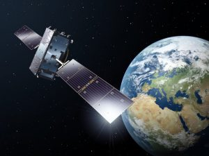 Galileo-satelliet in zijn baan om de aarde. Bron: ESA-P. Carril