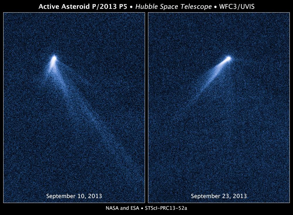 De planetoïde met zes staarten. Bron: Nasa