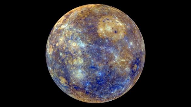 De planeet Mercurius. Bron: Nasa/JHUAPL/Carnegie inst. of Washington