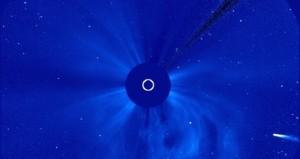 Komeet ISON nadert de zon Bron: Nasa