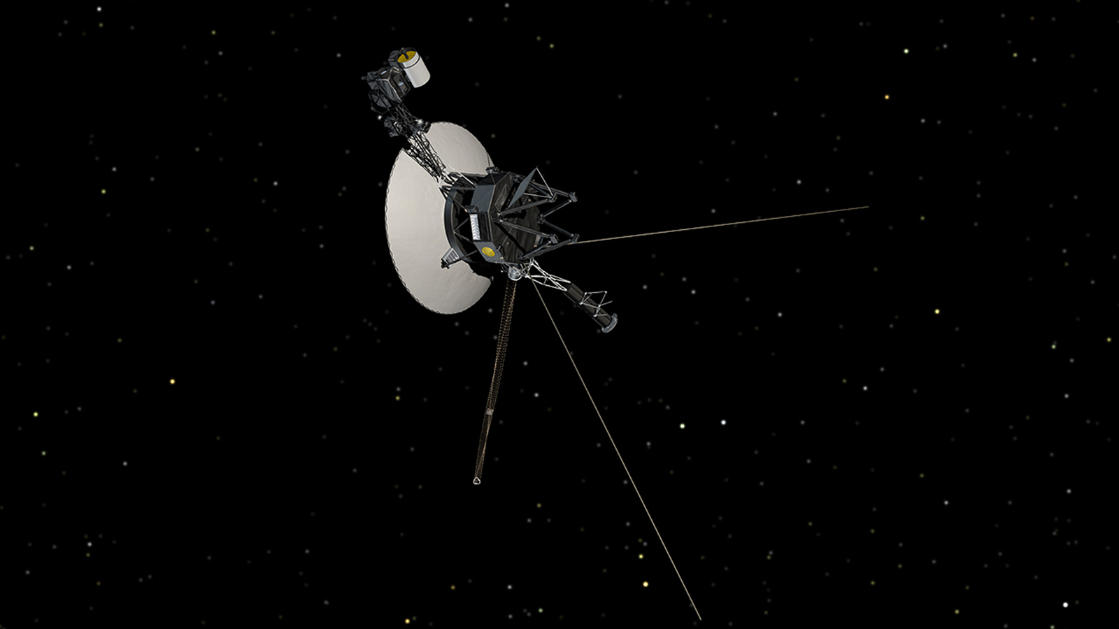 Sonde Voyager 1. Bron: Nasa