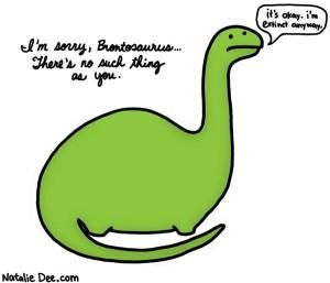 Arme Brontosaurus.  Bron: nataliedee.com