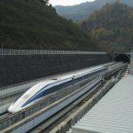Maglev, de magneetzweeftrein van Japan.