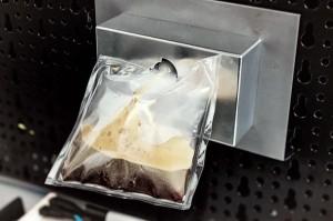 Een lekker bakje koffie is in zero gravity een lekker zakje koffie. Bron: Argotec/Lavazza