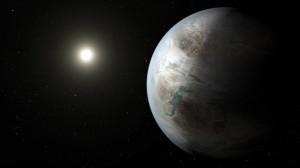 Tekening van Kepler 452b
