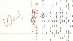 De krabbel naast het Wow!-signaal. Bron: Ohio State University/NAAPO