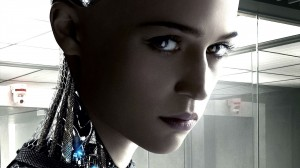 De intelligente, zelfbewuste robot Ava in Ex Machina