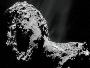 Er is vreemd water gevonden op 67P. Foto: ESA/Rosetta/NAVCAM