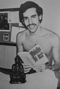 Warren Gefters foto in het jaarboek van Haverford College, 1970