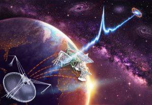 Om de precieze locatie ervan op te sporen werkte de Arecibo-radiotelescoop samen met een verzameling radiotelescopen over de hele wereld. Beeld: Danielle Futselaar