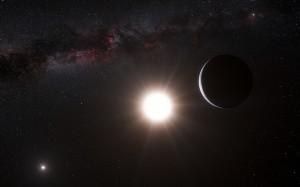 Artistieke impressie van een exoplaneet. Afbeelding, European Southern Observatory
