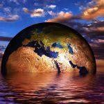 Een symbolische weergave van de gevolgen van klimaatverandering.