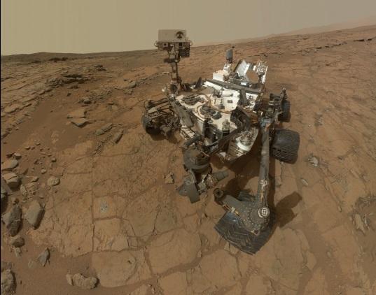 Curiosity struint sinds augustus 2012 het oppervlak van Mars af. Bron: NASA/JPL-Caltech/MSSS