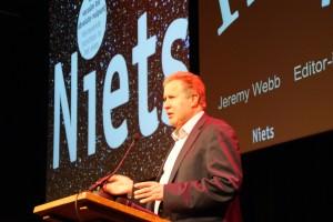 New Scientist evenement Jeremy Webb niets