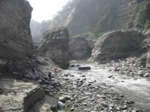De Da'an rivierkloof ontstond door een aardbevind in 1999. Credit: Kristen Cook