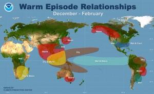 De effecten van El Niño op het klimaat rond de wereldFoto: NOAA:Climate Prediction Center