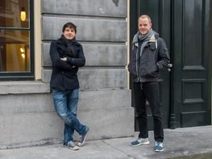 Dirkjan Tijs (links) en Sjoerd Esschendal (rechts) ontwikkelden een debatagenda. Bron: Joost Imhof