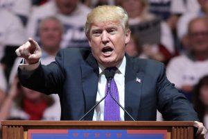 Donald Trump tijdens zijn campagne in 2016. Bron: Wikipedia commons, Gage Skidmore.