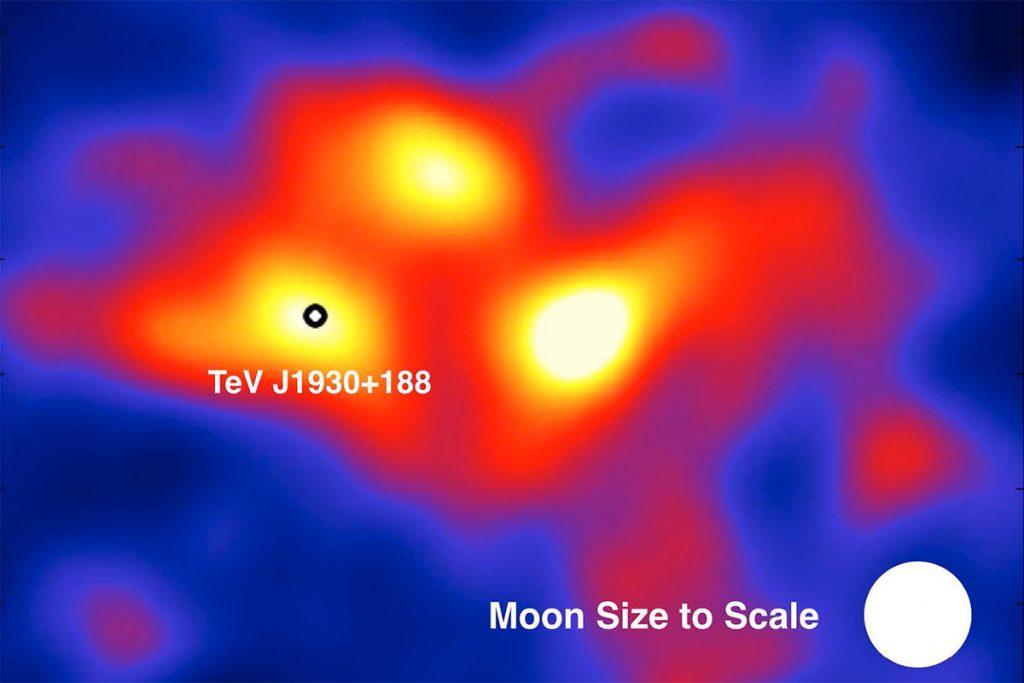 Drie nieuwe bronnen van gammastraling gedetecteerd door HAWC.