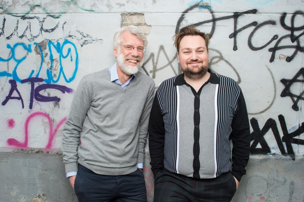 Erik Scherder en Tim Knol. Foto: Mats van Soolingen