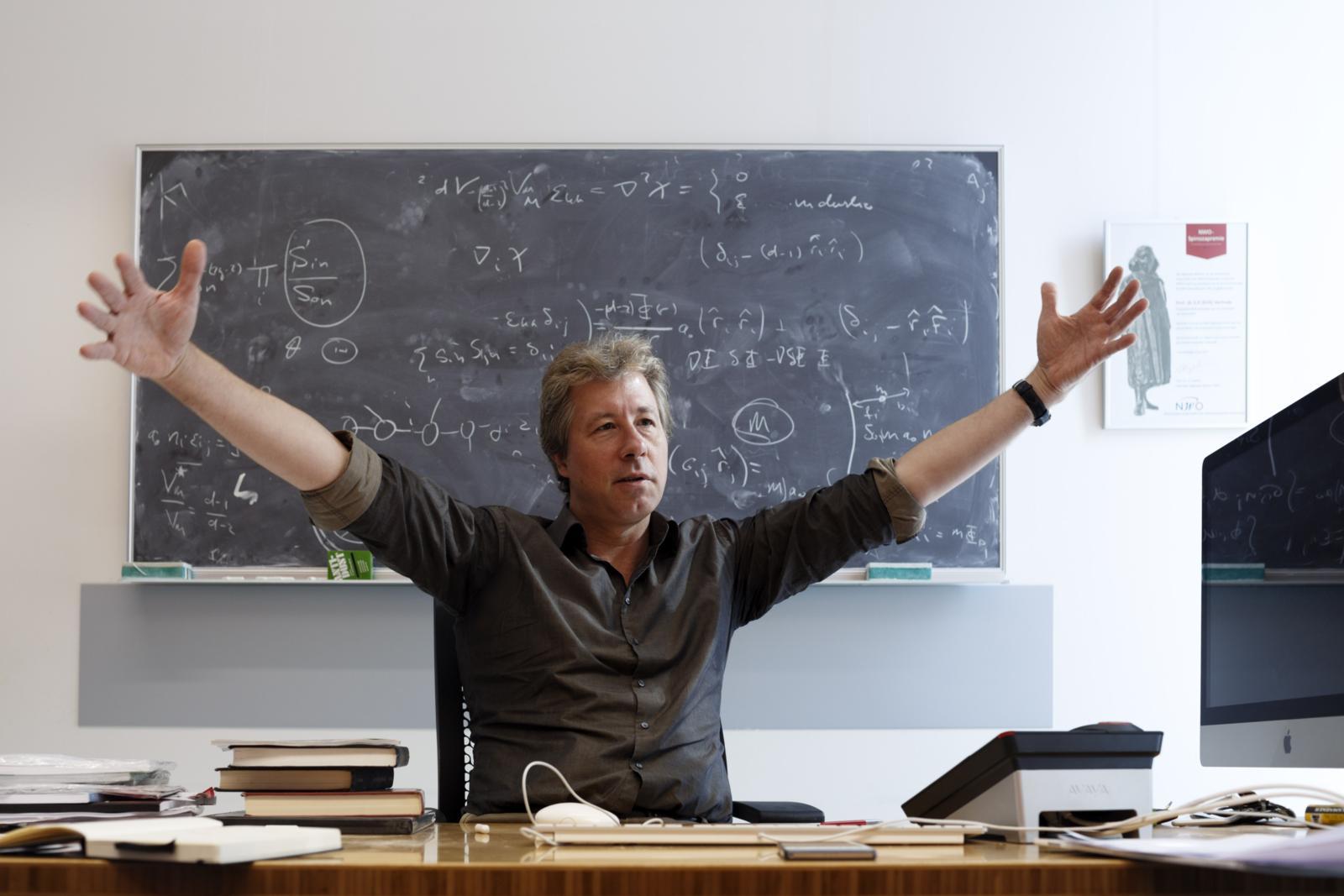 Erik Verlinde: 'Mijn grootste angst is dat mijn theorie onbegrepen blijft.' Foto: Bob Bronshoff