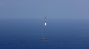 Falcon 9, screenshot uit de youtube video. Bron: SpaceX