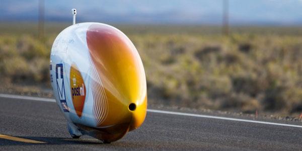 De fiets waarmee Bowier het record vestigde. Bron: Bas de Meijer