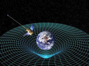 Materie verandert de ruimtetijd Bron: Wikimedia Commons / NASA