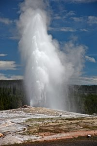 Door de vulkanische activiteit komen er in Yellowstone National Park veel geisers voor. Foto: Steve Jurvetson