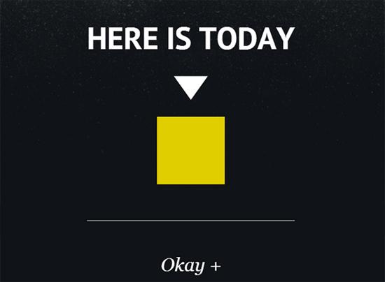 Here is Today (bron: hereistoday.com)