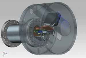 De IonPix Camera van Omics2image gebruikt de ATLAS-chip samen met AMOLF-technologie om biomedische metingen te doen. Bron: Omics2Image
