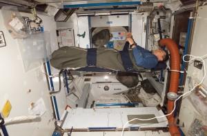 Astronauten hebben in de ruimte last van slaaptekort. Bron: NASA/Wikimedia Commons
