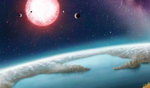 Impressie van Kepler-186f, een van de planeten in 'categorie 1'. Beeld: Danielle Futselaar