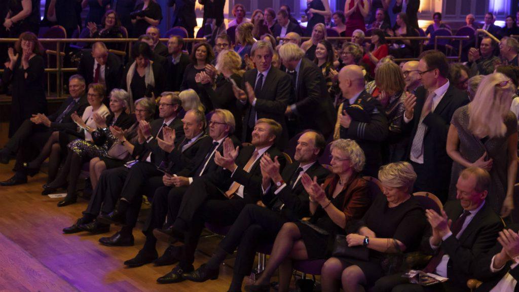 Koning Willem-Alexander op het Gala van de Sterrenkunde