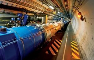 De buis van deeltjesversneller LHC. Foto: Cern