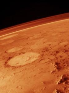 Kraters op Mars zijn het resultaat van ingeslagen ruimterotsen.  Bron: Nasa