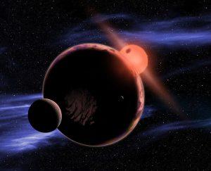 Een exoplaneet in de leefbare zone om een rode dwerg. Bron: NASA