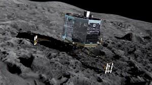Philae op komeet 67P Bron: esa