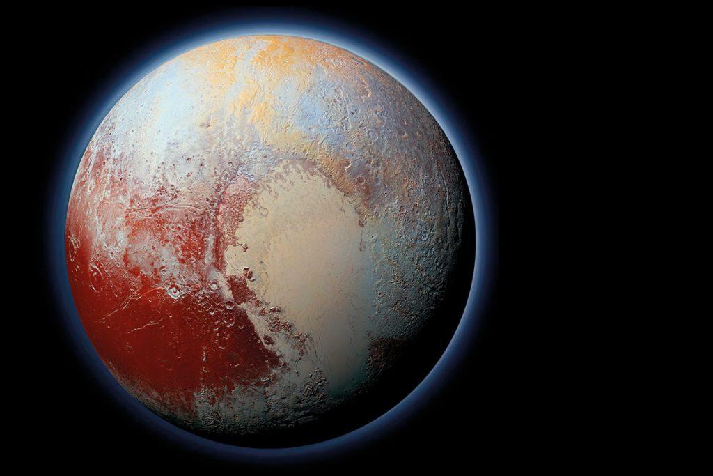 De Elliot krater ligt op deze foto in het kwart links onder. Afbeelding: NASA/JHUAPL/SwRI