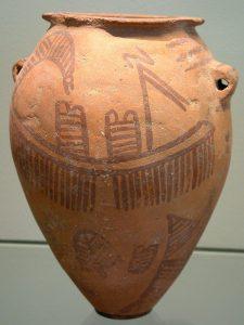 Deze pot is afkomstig uit het predynastische Egypte. In deze periode kwam de staat onverwacht snel tot bloei. Bron: Wikimedia Commons/ Borislav
