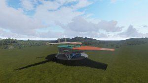 Een powerplane op een land- en lanceerplatform. Foto: Ampyx Power