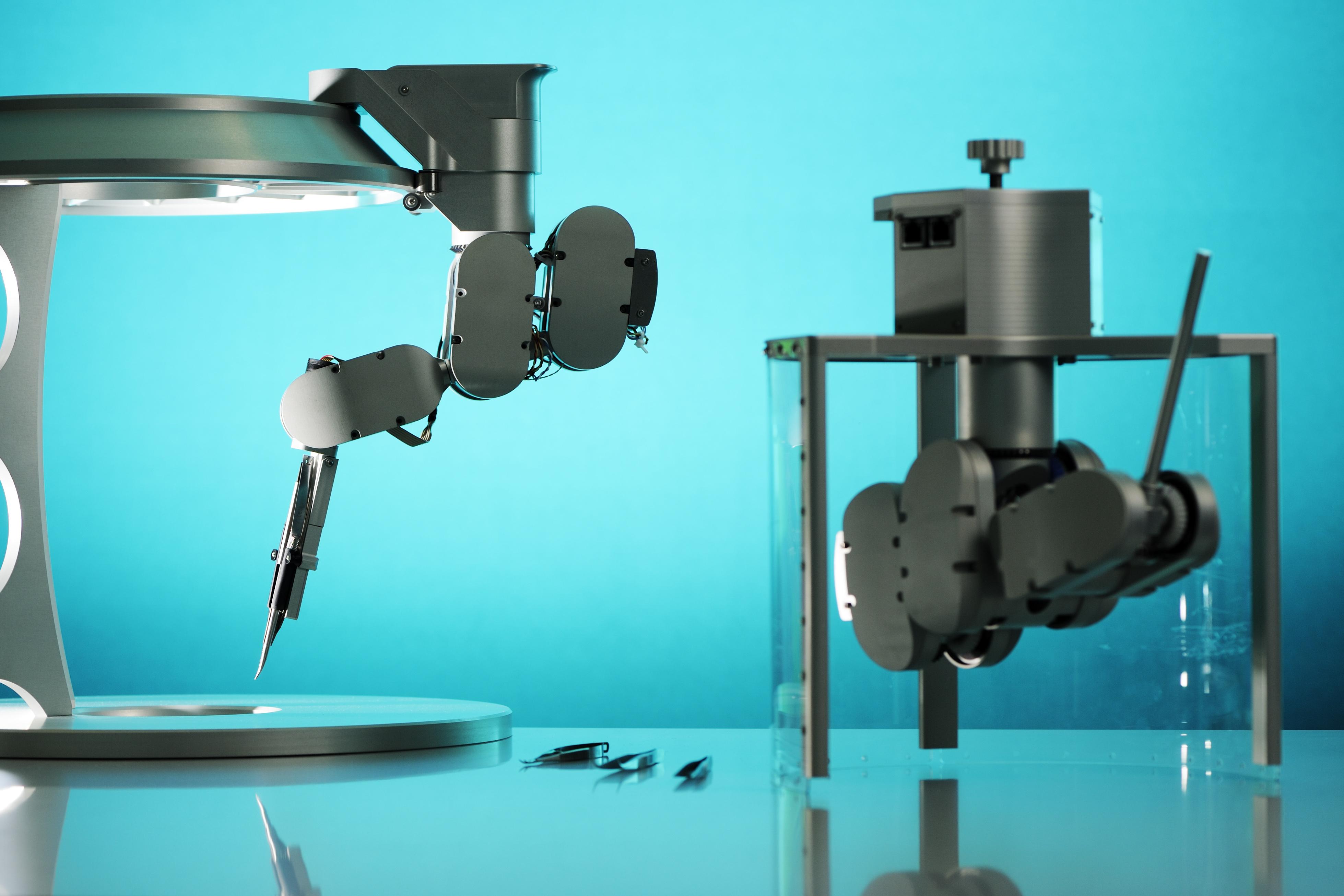 De robotchirurg van de Technische Universiteit Eindhoven Bron: Bart van Overbeeke