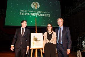 Sylvia Wenmackers ontving tijdens het gala van de wetenschap de Robbert Dijkgraaf Essayprijs. Foto: Daniël Rommens